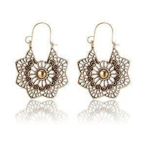 3/$20 New Gold Vintage Style Geometric Earrings